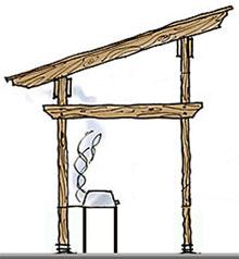 Схема деревянного навеса